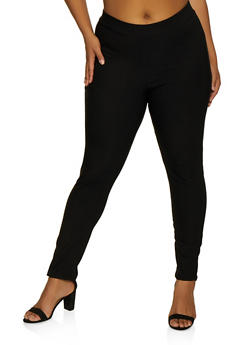 Plus Size Pull On Stretch Dress Pants - 9441020622497