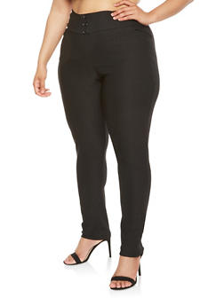 Plus Size Stretch Dress Pants - 9441020623666