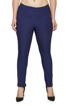 Plus Size Pull On Stretch Pants - 9441020623724