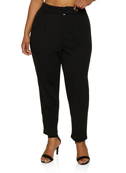 Plus Size Crepe Knit Pants - 9441020626462