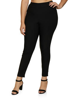 Plus Size Stretch Pull On Dress Pants - 9441020627321