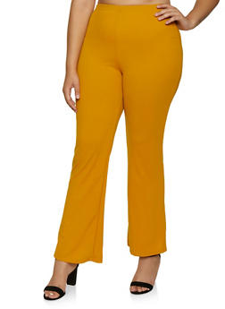 Plus Size Flared Dress Pants - 9441020627649