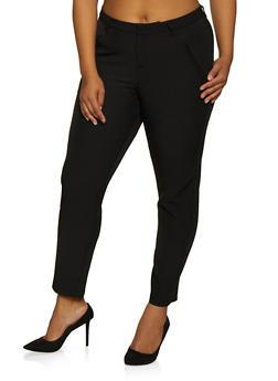 Plus Size Basic Dress Pants - 9441056577031