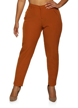 Plus Size Basic Dress Pants - 9441056577031