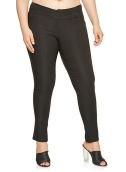 Plus Size Stretch Dress Pants - 9441062704307