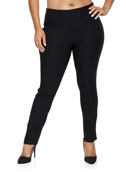 Plus Size Pull On Stretch Pants - 9441062707018