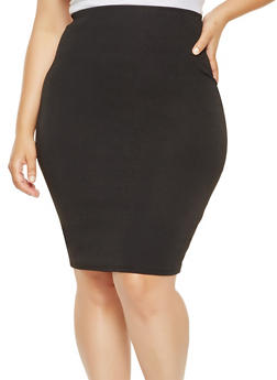 Plus Size Pencil Skirt - 9444020629993