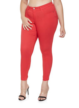 Plus Size Hyperstretch Push Up Jeggings - 9448056579911