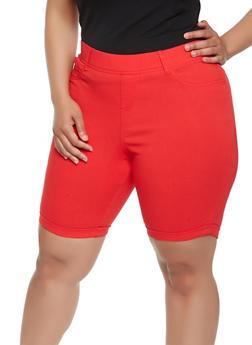 Plus Size Hyperstretch Bermuda Shorts - 9454056574266