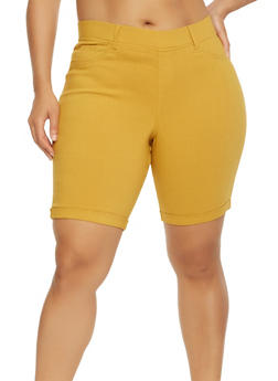 Plus Size Hyperstretch Bermuda Shorts - 9454056574266