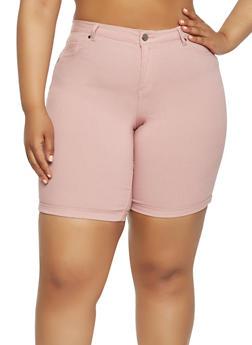 Plus Size Stretch Bermuda Shorts - 9454056576180