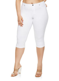Plus Size Hyperstretch Capris - 9455056570160