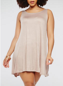Plus Size Trapeze Tank Dress - 9475020620699