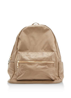 Nylon Backpack - KHAKI - 9502041657429