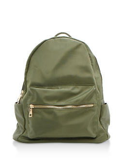 Nylon Backpack - OLIVE - 9502041657429