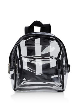 Clear Backback with Pockets - 9502061590090