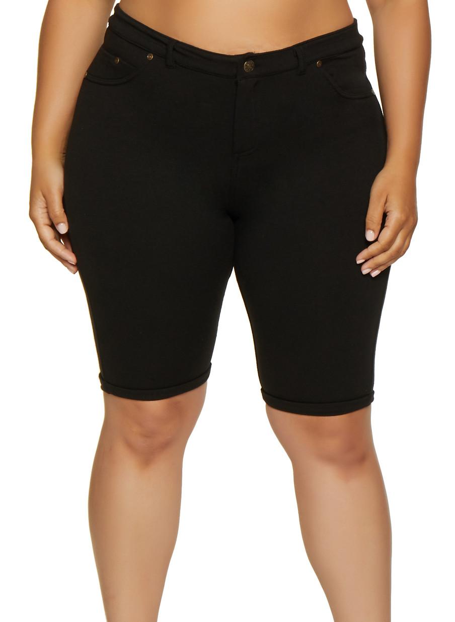 6d3fd67a43 Plus Size Bermuda Shorts - Rainbow