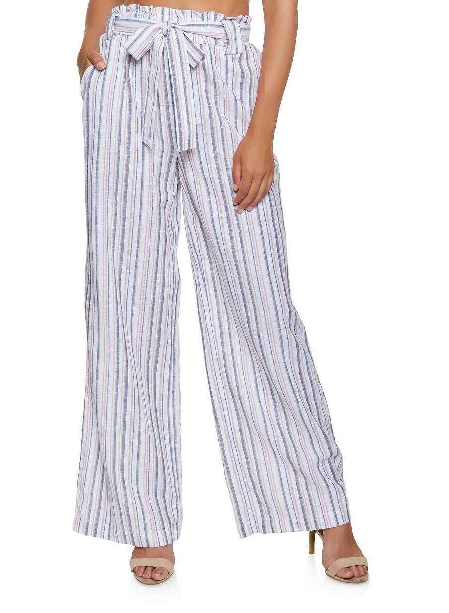 INC NEW Women/'s Printed Tie-waist Soft Pull On Palazzo Pants TEDO