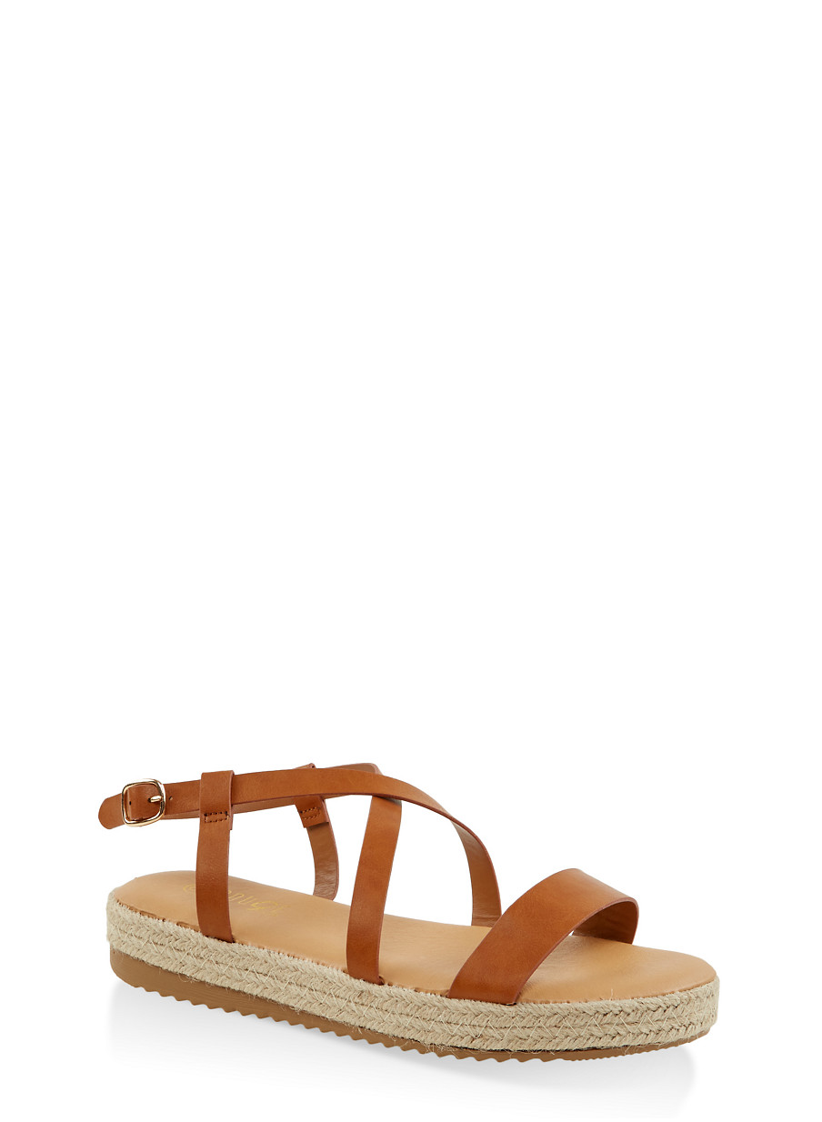 0f207626b Criss Cross Ankle Strap Espadrille Sandals - Rainbow