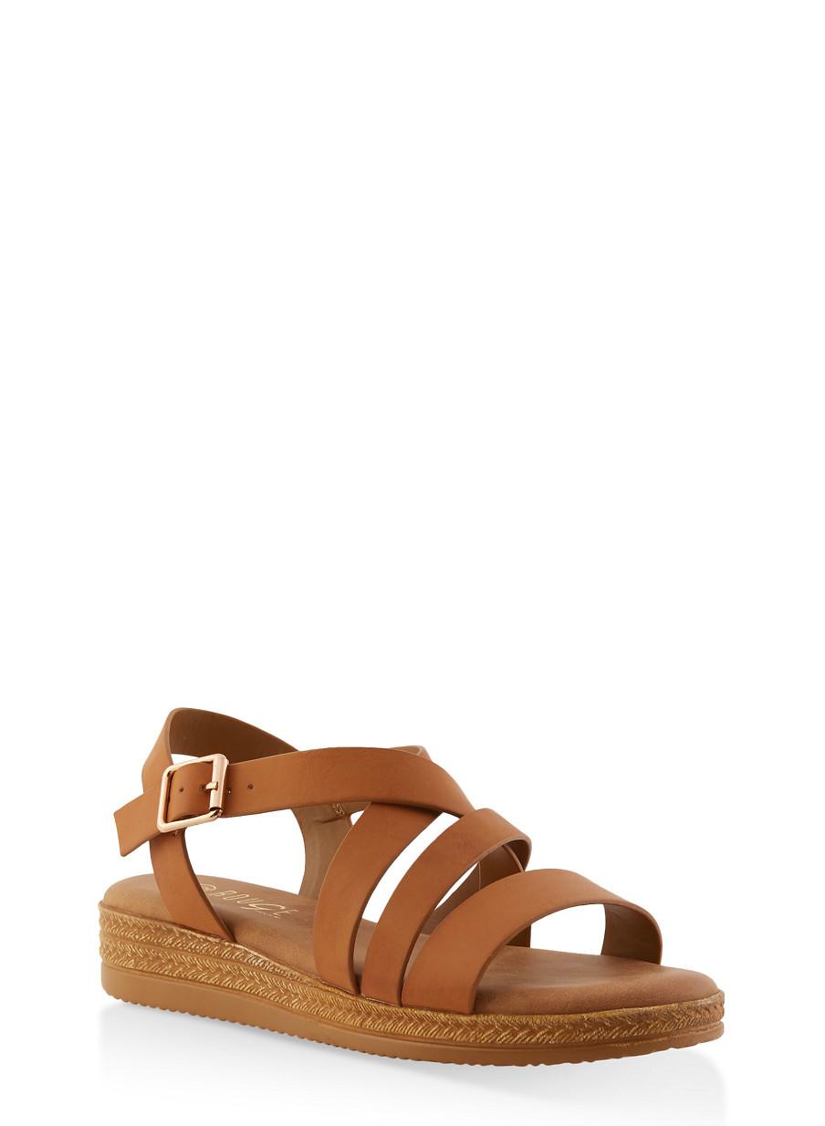 f501faf7b30 Strappy Platform Sandals - Rainbow