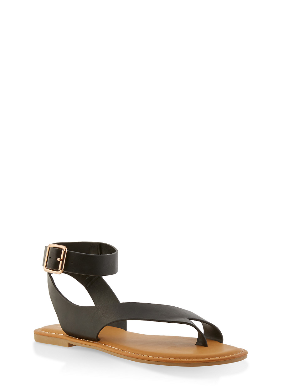 9f31fa59d75 Toe Ring Ankle Strap Sandals - Rainbow