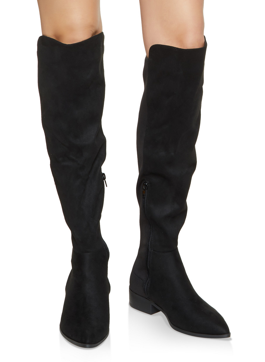 Pointed Toe Stretch Boots