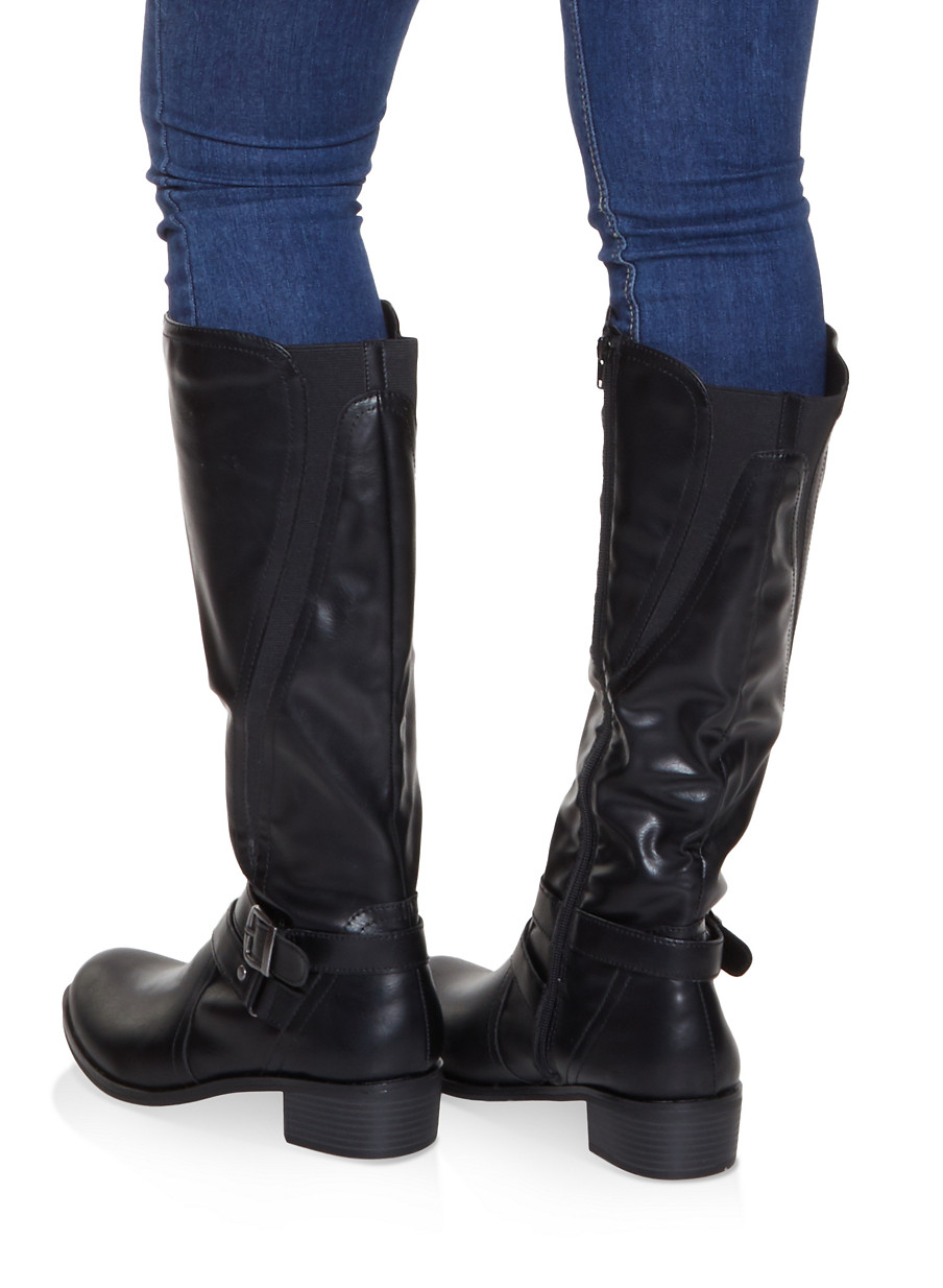 a5986d4190e5 Buckle Detail Riding Boots - Rainbow