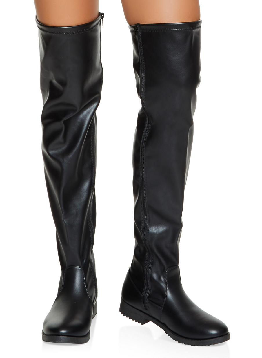 Side Zip Over the Knee Boots