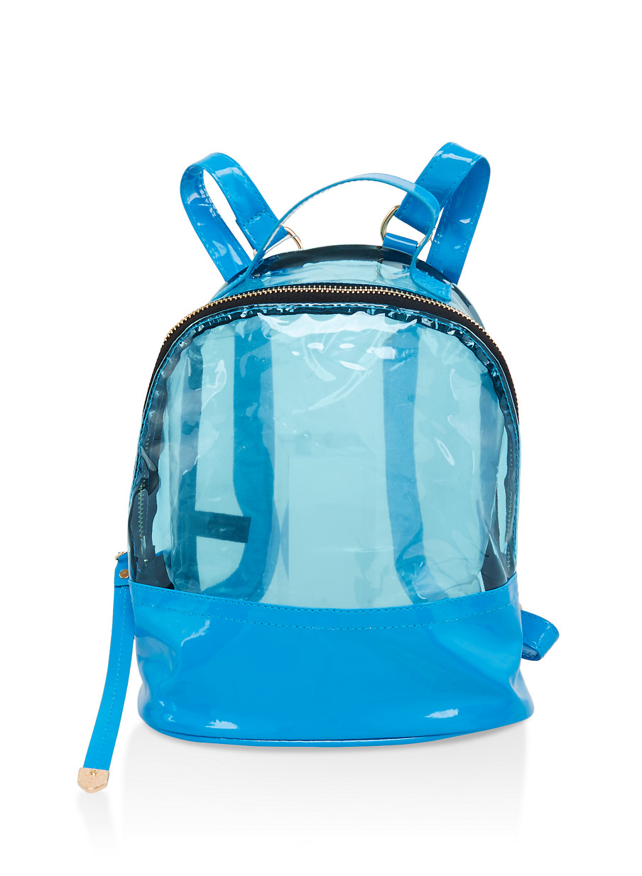 140dd14afe Clear Color Block Backpack - Rainbow