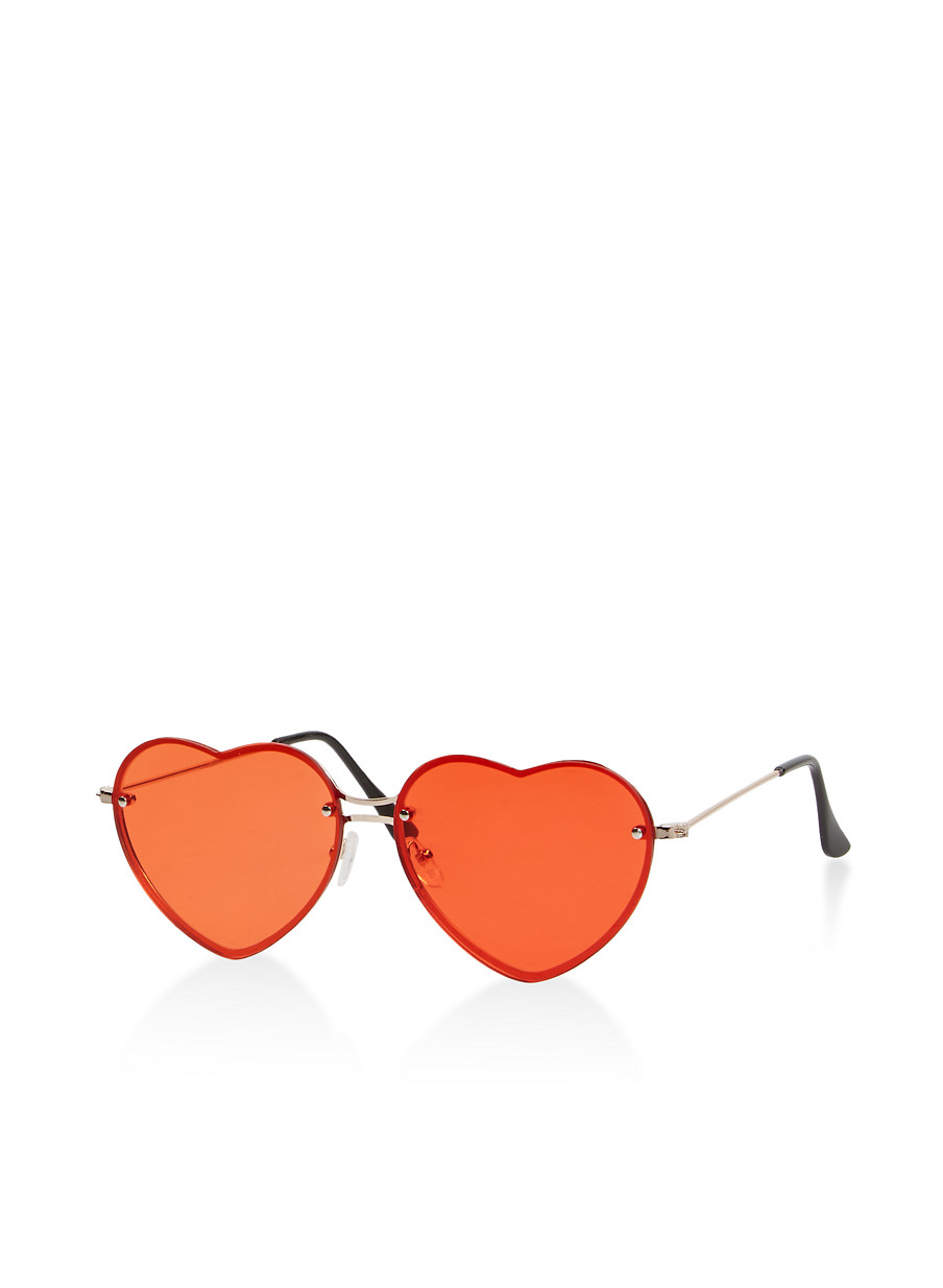 69e2eafaa7 Rimless Heart Sunglasses - Rainbow