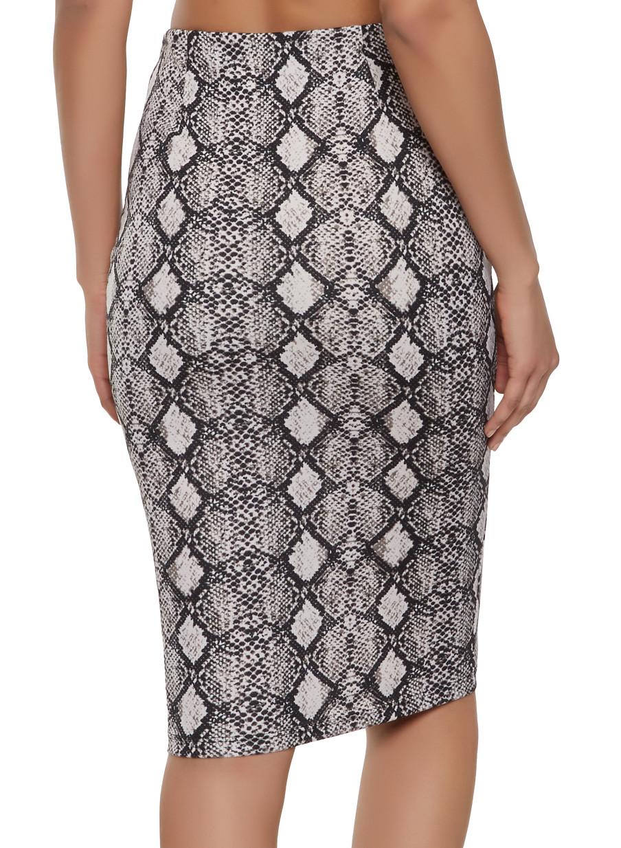 83edb43851 High Waisted Calf Length Pencil Skirt