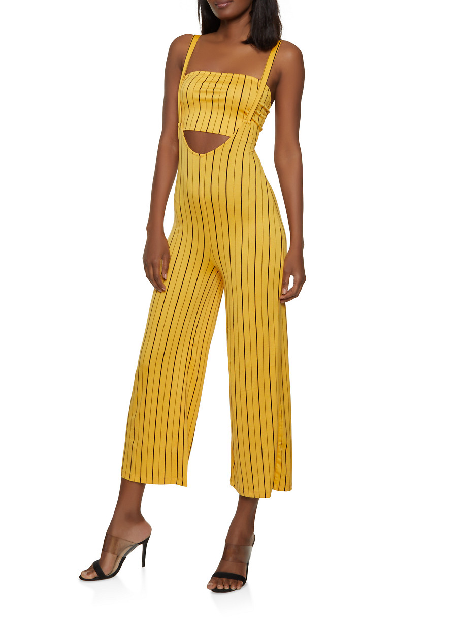 c52666ae93 Striped Suspender Pants with Bandeau Top - Rainbow