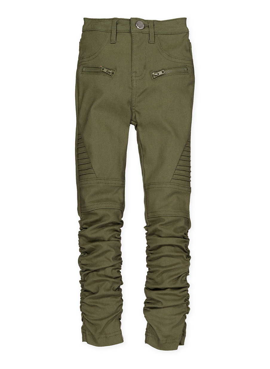 cf38f6006a3 Girls 7-16 Ruched Hyperstretch Moto Pants - Rainbow