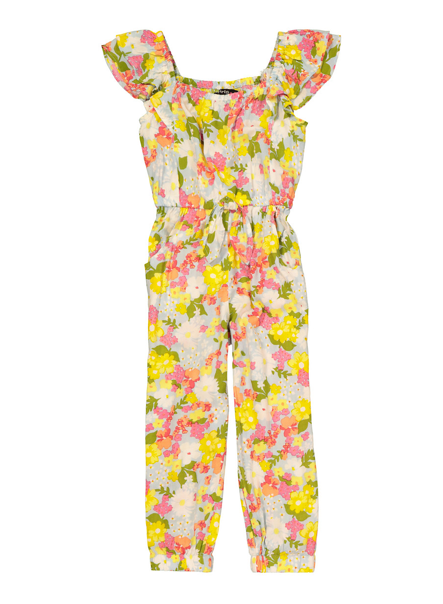 Miss Floral/® Womens One Piece Jogger Jumpsuit 3 Styles 17 Colour Size 6-16