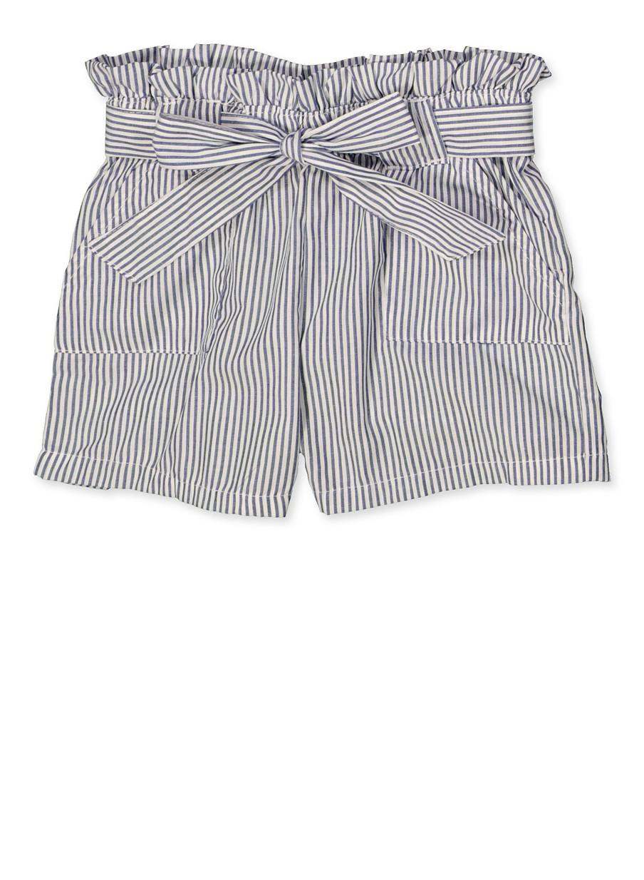 8b3165c2a Girls 4-6x Striped Paper Bag Waist Shorts - Rainbow