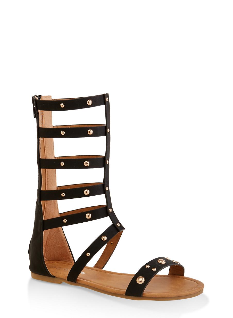 01964dd4aefc Girls 11-4 Studded Tall Gladiator Sandals