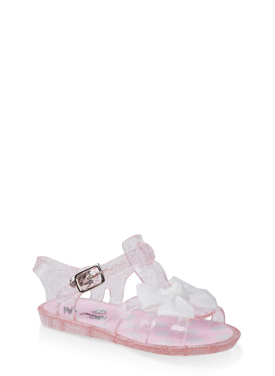 Girls Jelly 7 10 SandalsPink Bow ZiOPXTuk