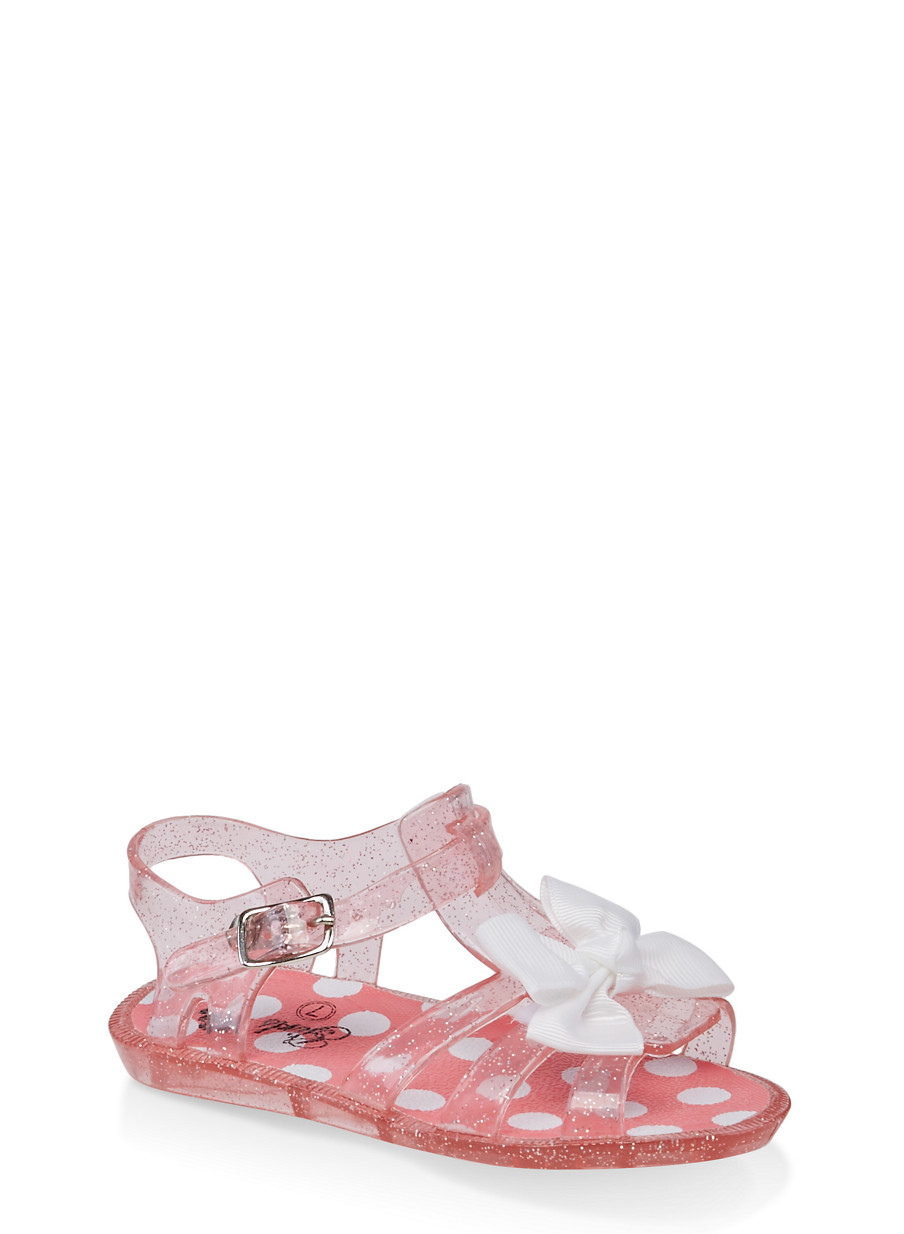 99afc3399769 Girls 7-10 Bow Jelly Sandals