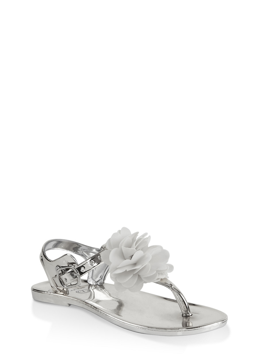 ecfb10dab Girls 7-10 Flower Thong Sandals