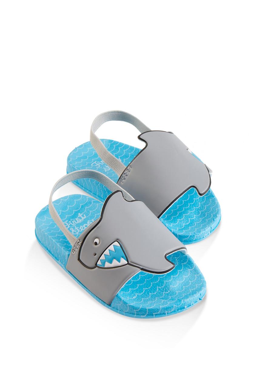 Zetpol Kaja 576 Navy Blue Metal Cam Lock Buckle Closure Toddler Boys Natural Canvas Fisherman Sandal