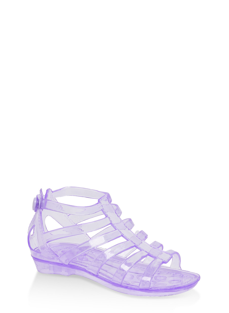 d024625ed644 Girls 10-4 Jelly Gladiator Sandals - Rainbow