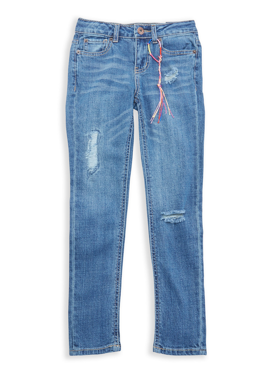 Girls 7-16 Lucky Brand Distressed Jeans - Blue - Size 14