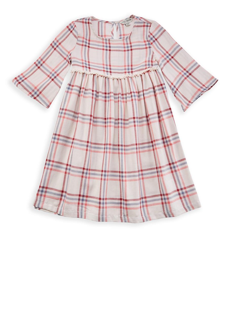 Girls 7-16 Lucky Brand Plaid Dress - Multi - Size L