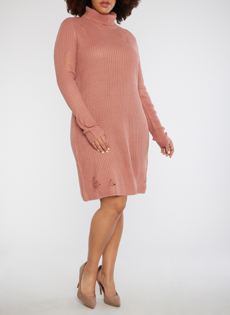 Turtleneck Dresses Plus Size Insaatmcpgroupco