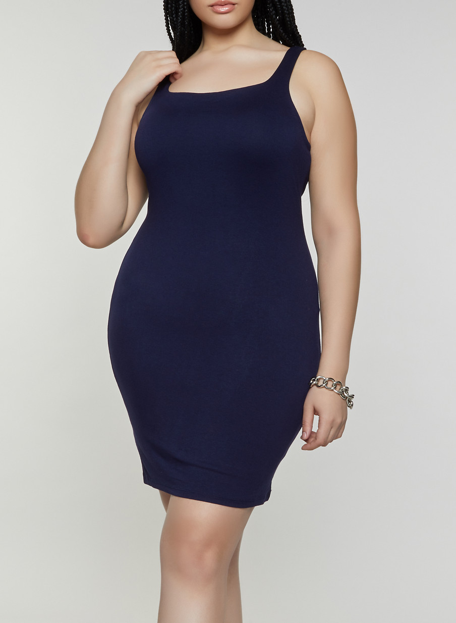 Plus Size Sleeveless Bodycon Dress