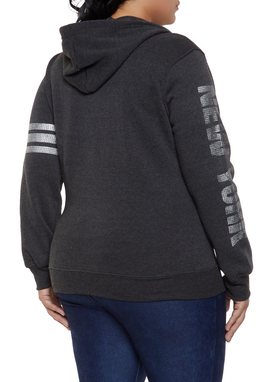 e0e52affd23a5 Plus Size New York Hooded Sweatshirt - Rainbow