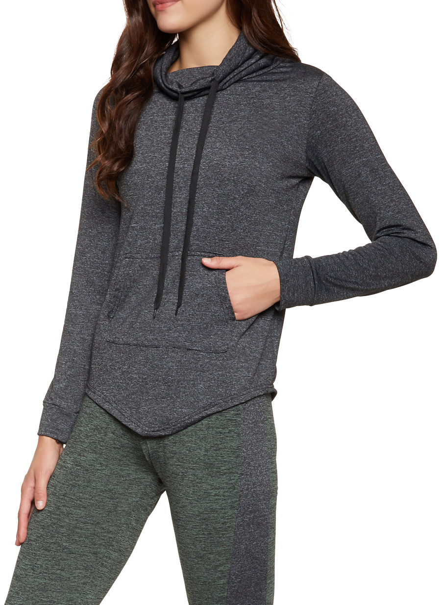 Drawstring Funnel Neck Active Top