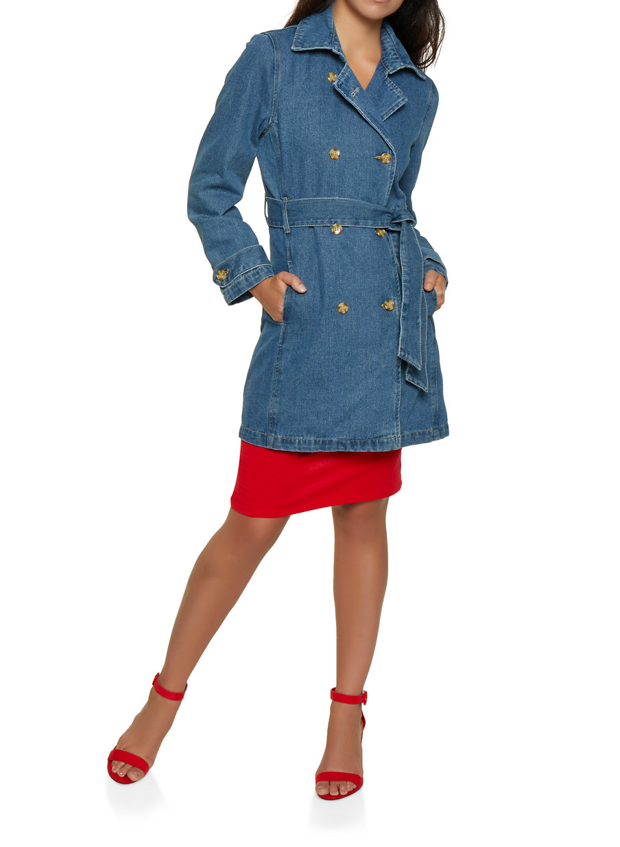 9196b75e22957 Highway Denim Trench Coat