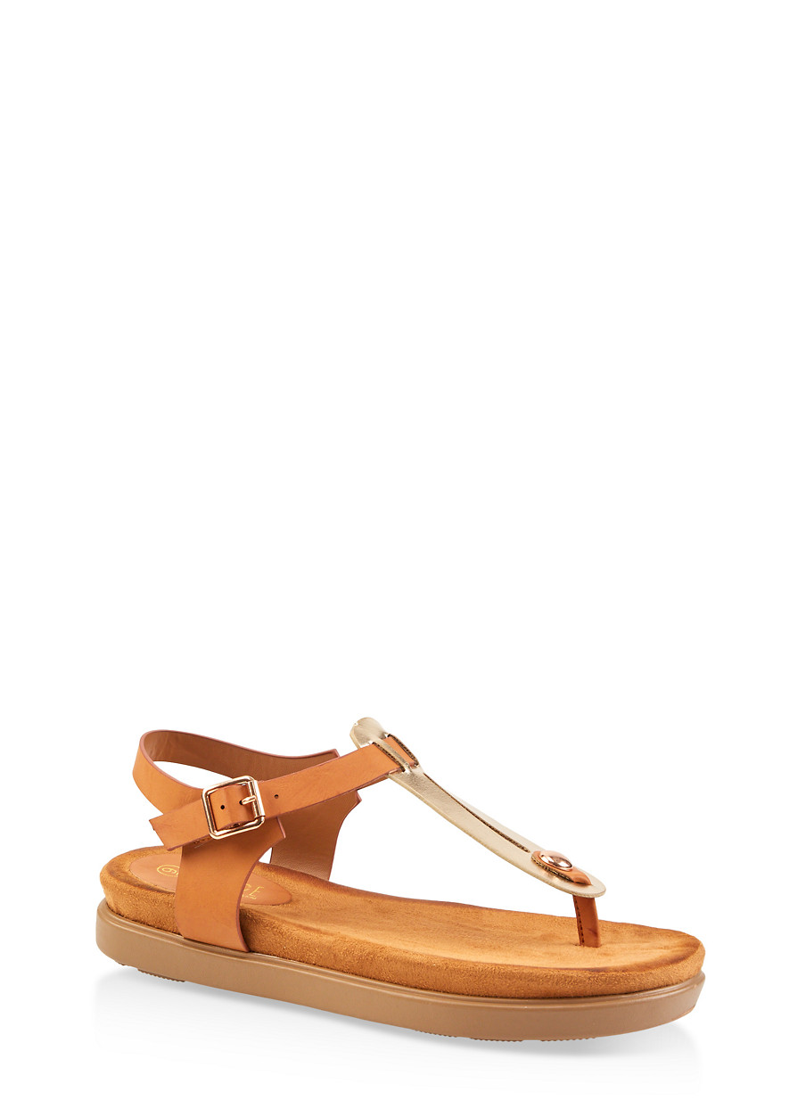 f0fd14431 Two Tone Thong Footbed Sandals - Rainbow