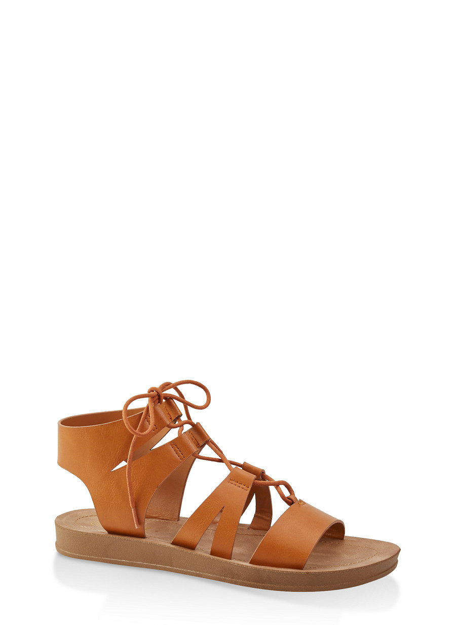 ae4481ec6323 Lace Up Gladiator Sandals